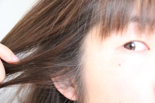 アラフォーの、白毛が気になり始めた髪