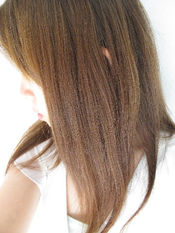 髪の毛、さらりとした仕上がりに