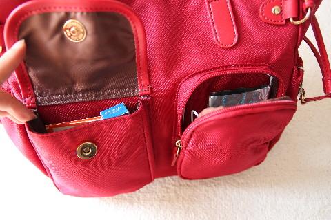 DHCのバッグはポケット多い