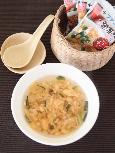 ファンケル発芽米雑炊キムチできあがり