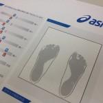 アシックス足形測定シート