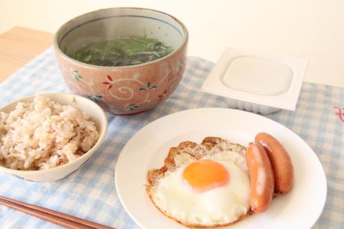 糸寒天を朝食に。