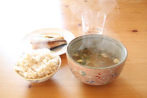 朝ご飯に糸寒天