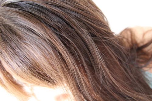 ラサーナ毛染め後の髪の毛