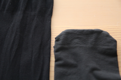 メディキュット 着圧タイツブラックとチャコールグレーの色比較