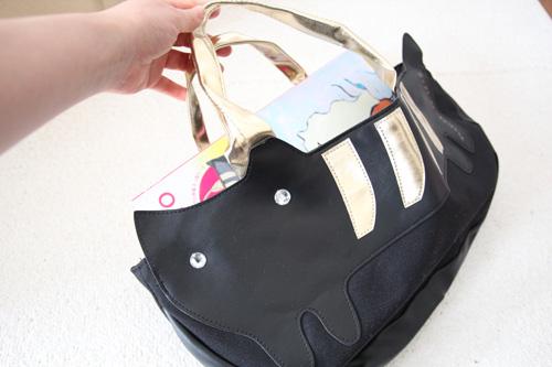 tsumori_chisato_ネコモチーフのトートバッグ、A4サイズは入る