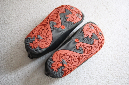 merrell靴底が葛飾北斎の「冨嶽三十六景」