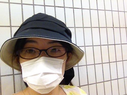 帽子+マスク+メガネ