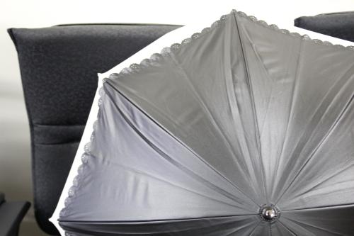 晴雨兼用二重張りUV日傘外側