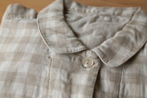 無印良品 レディース 脇に縫い目のない細番手 二重ガーゼ七分袖