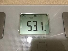 体重53.1kg
