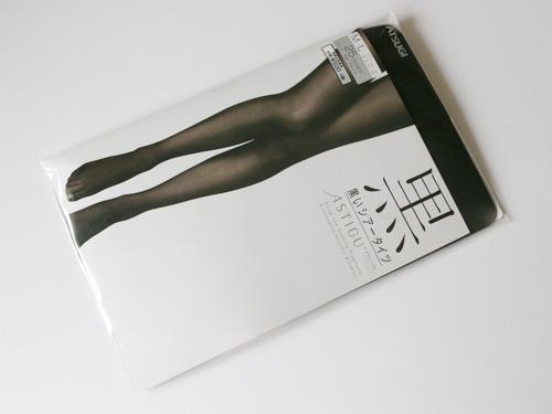 ATSUGI黒いシアータイツ