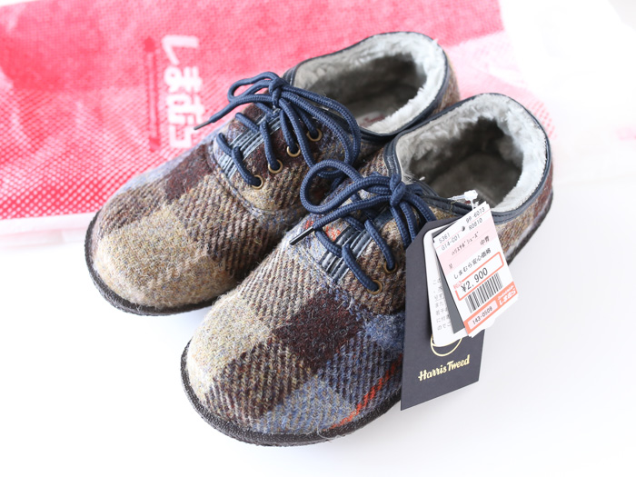 しまむらハリスツイードの靴
