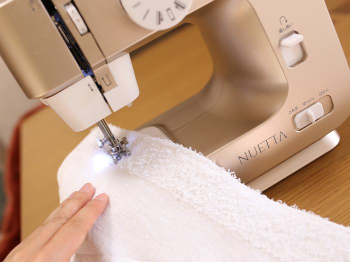 ヌエッタで雑巾を縫う