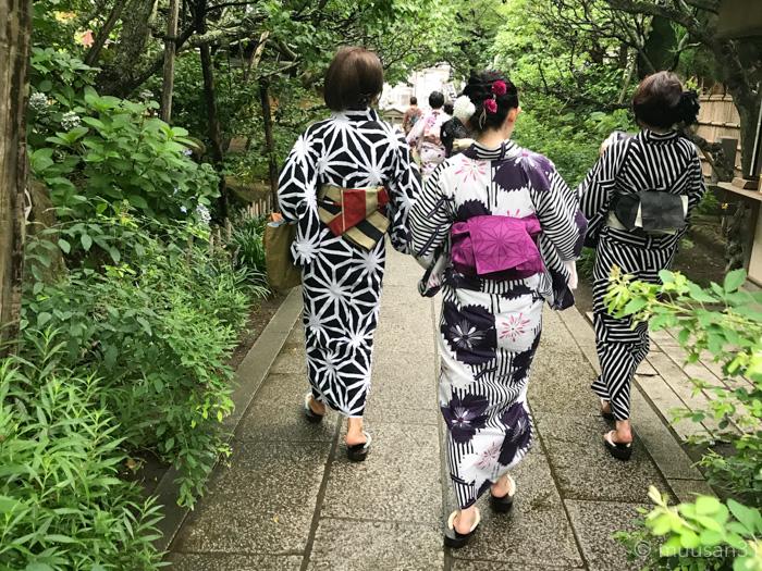 鎌倉のお寺を浴衣で散策