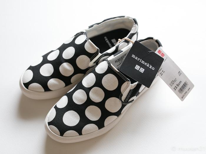 ユニクロのマリメッコ靴