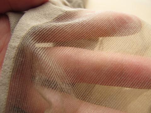 ナイロン糸交互編み
